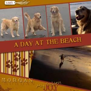 Morgan loves the beach!