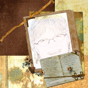 Scrapbooking is hard to do when you have to talk about yourself!