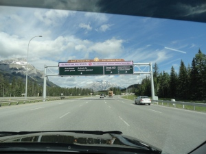 Entering Banff National Park. Paid $8.xx each for the day
