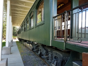This is the train car that President Harding used when he came to Alaska.